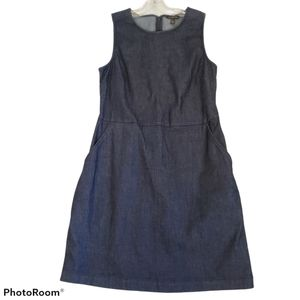 Banana Republic dark wash jean sleeveless dress